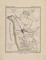 Historische kaart, plattegrond van gemeente Gennep in Limburg uit 1867 door Kuyper van Kaartcadeau.com