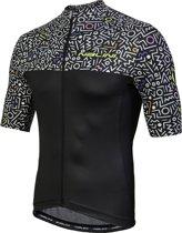 Nalini Centenario Jersey Fietsshirt - Heren - korte mouw - Maat XL - Zwart/Wit print