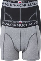 Muchachomalo boxershorts 2-pack - zwart/ grijs -  Maat M