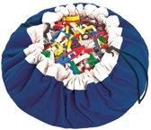 Play & Go opbergzak / speelmat - blauw