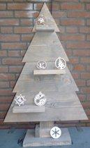 houten kerstboom bruin steigerhout 90cm