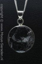 Zilveren Hematiet edelsteen ketting hanger