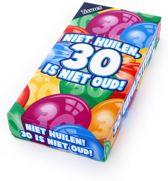 Tissuebox Niet huilen, 30 is niet oud