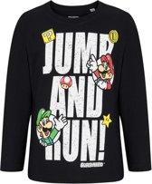Super-Mario-Bros-T-shirt-met-lange-mouw-zwart-maat-128
