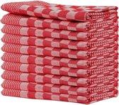 Queens theedoeken -  10-pack - 65 x 65  cm - Rood