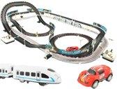 2-in-1 XL Auto Racebaan & Treinbaan Set - Baanset - Race Cars \/ Raceauto Baan - Elektrische Power Racebaan Spoorbaan - 6.3M