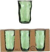 Mica Decorations - Juan glas groen 3 delig - h13xd8cm