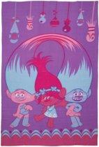 Trolls fleece deken paars - 150 x 100 cm.