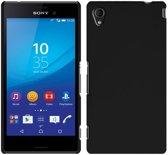 TPU Siliconen case Hoesje voor Sony Xperia M4 Aqua - Zwart