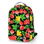 Laptop rugzak 15,6 Deluxe bloemen rood - Sleevy - schooltas