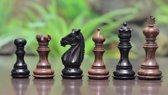 Meghdoot Collector serie Staunton schaakstukken. Zeer luxe Ebony en handgesneden