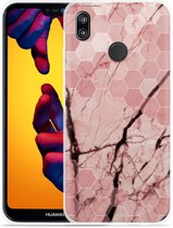 Huawei P20 Lite Hoesje Pink Marble