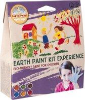 Natural Earth Paint - 6 Natuurlijke pigmenten voor 2 liter kinderverf - Kit Experience