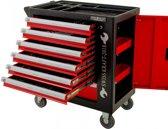 Gereedschapswagen Redline Deluxe FOAM inlays 7 laden (5 gevuld) rood