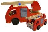Playwood Brandweerauto - Hout - Rood