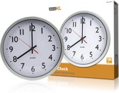 Wall Clock 300 mm Analogue White/Silver