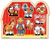 Melissa & Doug Houten boerderijpuzzel met grote knoppen