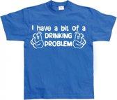 Fun t-shirt Drinking Problem heren L