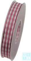 Textielband Geblokt Roze Schotland
