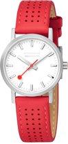 Mondaine Classic A658.30323.16SBC Horloge - Leer - Rood - Ø30 mm