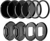 Filter Set 52mm voor GoPro Hero 5 6 7 – Polarisatiefilter, UV filter en ND Filters – 10 Pack