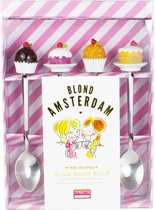 Blond Amsterdam Even Bijkletsen Theelepels - 4 Stuks - Aardewerk