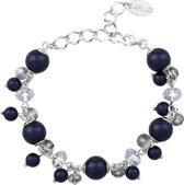 ARLIZI 1348 Armband Swarovski Kristal Parels - Dames - 925 Sterling Zilver - 18 cm - Blauw