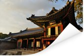 Prachtige gebouwen bij Changdeokgung Poster 120x80 cm - Foto print op Poster (wanddecoratie woonkamer / slaapkamer)