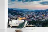 Fotobehang vinyl - Cityscape van Sarajevo in Bosnië en Herzegovina breedte 390 cm x hoogte 260 cm - Foto print op behang (in 7 formaten beschikbaar)