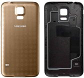 Voor Samsung Galaxy S5 SM-G900 batterij cover -achterkant - Goud