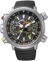 Citizen Promaster Eco-Drive Altichron - Horloge - Rubber - 49.5 mm - Zilverkleurig / Zwart - Solar uurwerk