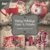 Papier blok Paper & pictures, Happy holidays 10 x 10 cm 18 vel