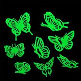 Glow in the dark Vlinders 3D