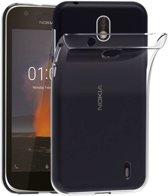 Hoesje CoolSkin3T TPU Case voor de Nokia 1 Transparant Wit