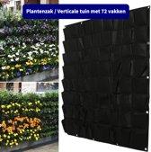 Plantenzak met 72 vakken - Verticale tuin - Plantentas - Plantenhanger geschikt voor kruiden, bloemen en planten - Hangende plantenbak - Anno 1588 - Dik vilt - 100x100 cm - Zwart