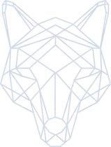 Hond Geometrisch Hout 40 x 53 cm Grey - Wanddecoratie