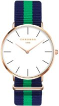Chronos Horloge - Blauw/Groen/Blauw