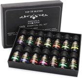 JDBOS ® Etherische olie set – Ideaal voor diffuser – 14 PREMIUM oliën waaronder Lavendel en Eucalyptus