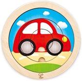 Hape Houten Vormenpuzzel Spinning Transport Junior 4-delig