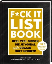 Boekomslag van 'F*CK-it list book'