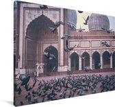 Wereldkaarten.nl - Historische nautische wereldkaart op schoolplaat groot 150x90 cm platte latten