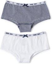 Little Label Meisjes Onderbroek (2 pack) - blauw,wit - Maat 110-116
