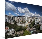 Het Zuid-Amerikaanse Belo Horizonte in Brazilië Canvas 90x60 cm - Foto print op Canvas schilderij (Wanddecoratie woonkamer / slaapkamer)