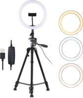 IMPAQT LED Ring Lamp dimbaar MET 3 LICHTKLEUREN