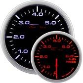 Depo Racing WA-Series Instrument - Benzinedruk 0,0>6,0 bar - 52mm