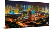 Kleurrijke verlichting in Manila Aluminium 40x20 cm - Foto print op Aluminium (metaal wanddecoratie)