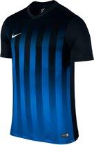 Nike Striped Division II  Sportshirt - Maat M  - Mannen - blauw/zwart