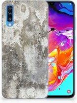 Samsung Galaxy A70 TPU-siliconen Hoesje Design Beton
