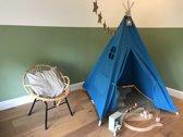 Tipi Tent voor Kinderen - Speeltent voor Kids - Wigwam Blauw - Een lekker plekje voor de kids!