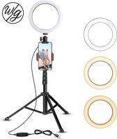 YC  10 inch ringlicht met statief  Rovtop LED Camera Selfie Light Ring met iPhone-statief en telefoonhouder  videofotografie   Make-up   live streaming  compatibel met iPhone en Android-telefoon